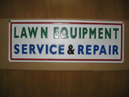 LAWN EQUIPMENT SERVICE & REPAIR, 3D Embossed Plastic Sign 7x21, Shop Fix it