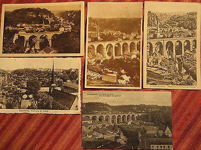 NR. 864 / Set a 5 Stk. Postkarten AK Luxembourg Faubourg Viaduc du Nord