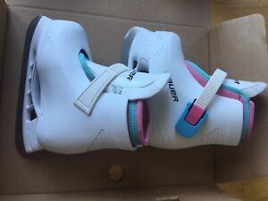 Bauer Girls Skates Kiddies Size 7- New in box