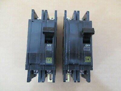 Lot Of 2 Square D Qou220 Circuit Breakers 20 Amp 2 Pole 240 Volt A313