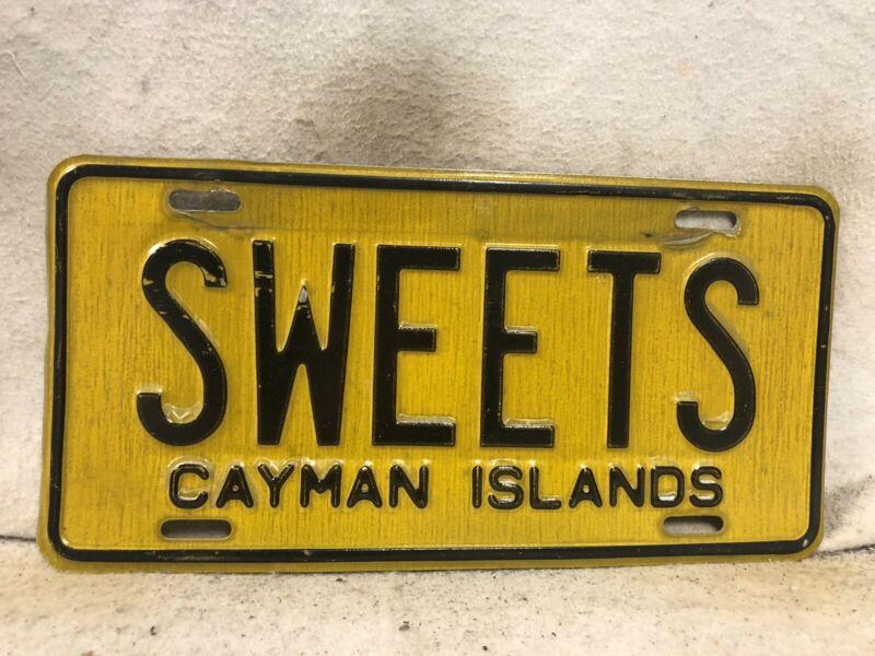 """Cayman Islands License Plate """"SWEETS"""""""