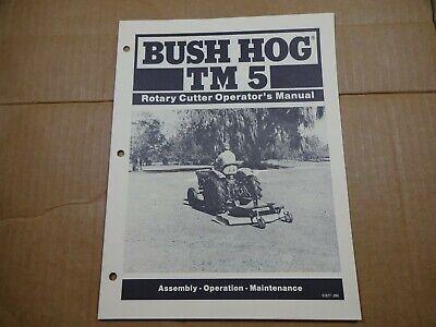 Bush Hog Tm 5 Rotary Cutter Operators Maintenance Assembly Manual