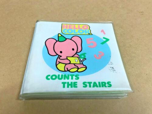 Vintage Sanrio Hello Color Count The Stairs Bath Book 1985
