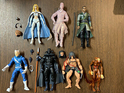 Marvel Legends & Toy Biz - 7 Figure Lot - Black Panther + Wolfsbane + Weapon X +