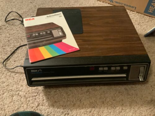 Vintage RCA SelectaVision CED VideoDisc Player Model SFT 100 W - Tested Works!