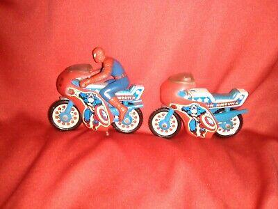 Vintage Marvel Cpt America Spiderman Cycle Buddy L Secret Wars 1980 Figure Lot