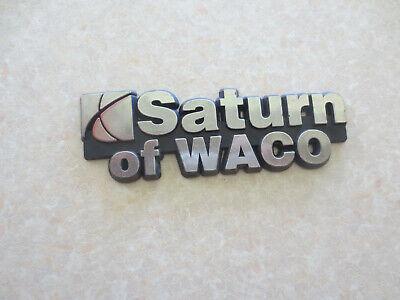 Saturn dealership car badge - Waco Texas USA