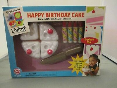 Happy Birthday Cake Set Pretend Play Small World Toys (Happy Birthday Pretend Cake)