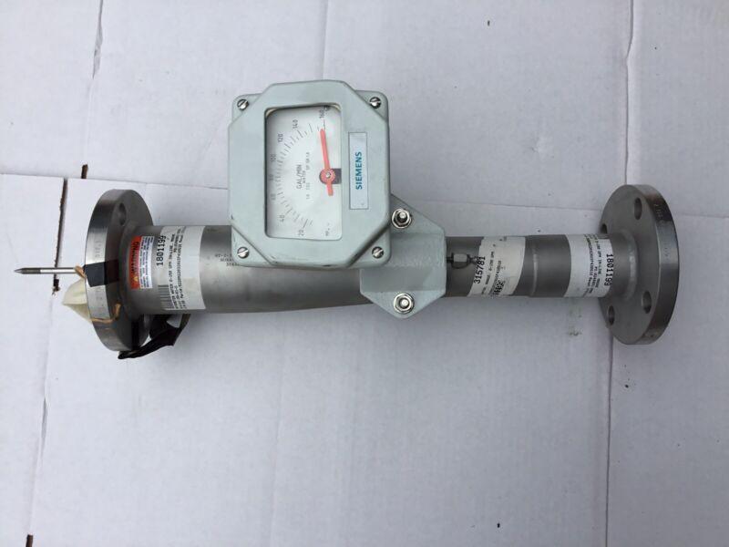 SIEMENS 5220M22032XUIF430S  ARMORED FLOW METER * NEW Rotameter 0-150 GPM