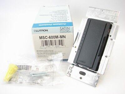 Lutron MSC-600M-MN Maestro 600-Watt Multi-location Dimmer Midnight Black (T67) 600 Watt Maestro Dimmer
