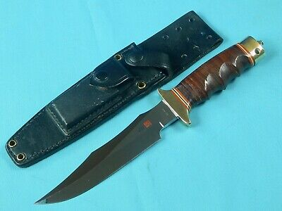 Vintage US SOG Seki Japan AL MAR Made Early Model Fighting Knife w/ Sheath