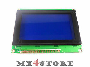 LCD Display 12864 blau weiss KS0108 S6B0108 128x64 Grafik Display Arduino