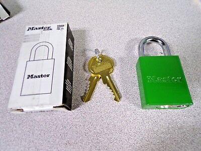 Master Lock No. 6835kamknrgrn Pro Series Green Solid Aluminum Padlock 1in K
