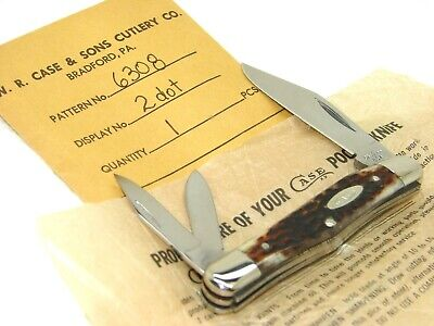 CASE XX USA,1978, 6308 WHITTLER KNIFE, CASE ENVELOPE & WRAP, SUPER BONE, MINT
