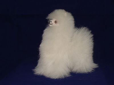 "373 Baby Alpaca Fur Plush Doll Peruvian Andes Very Soft Animal 6"" Fair Trade Toy"
