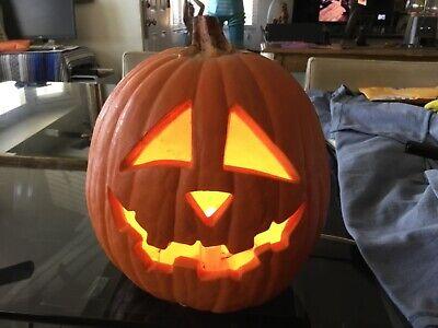 Trendmasters Light Up Foam Blow Mold Pumpkin Jack O Lantern Halloween 1993