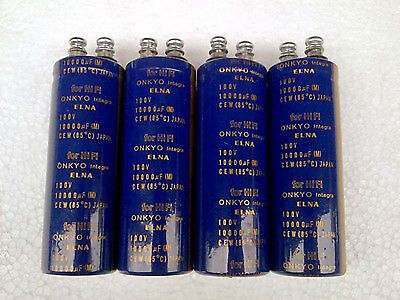 2x Hifi Audio Filter Capacitor 10000uf 100v Elna Electrolytic Capacitors
