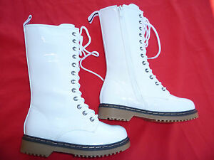 white boots shoes youth alyson size 9 4