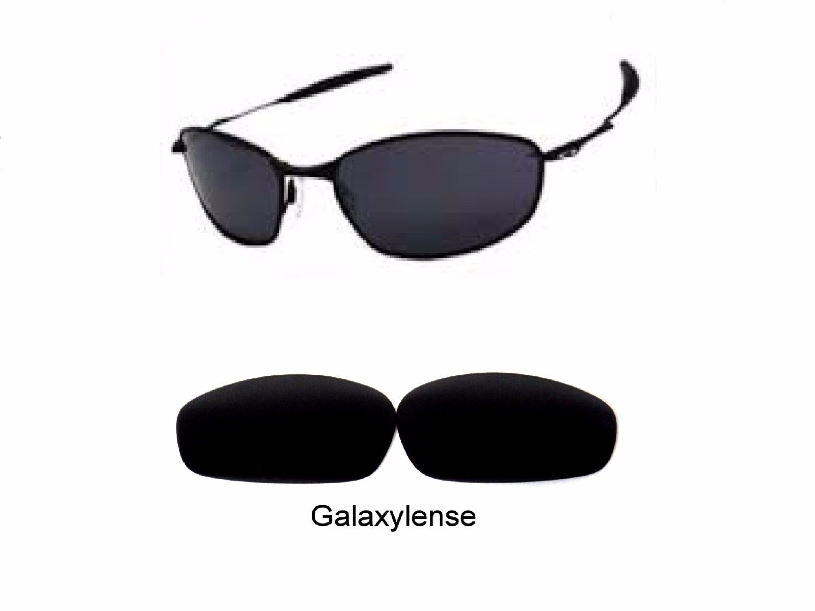 88a5ae499b6 Galaxy Replacement Lenses For Oakley Whisker Sunglasses Black Iridium  Polarized