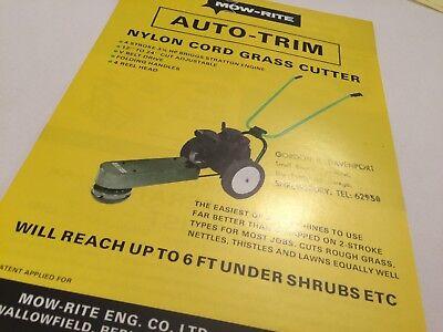 MOW RITE Grass Cutters & Lawn Aerators  Original 1970s Sales (Mow Aerator)