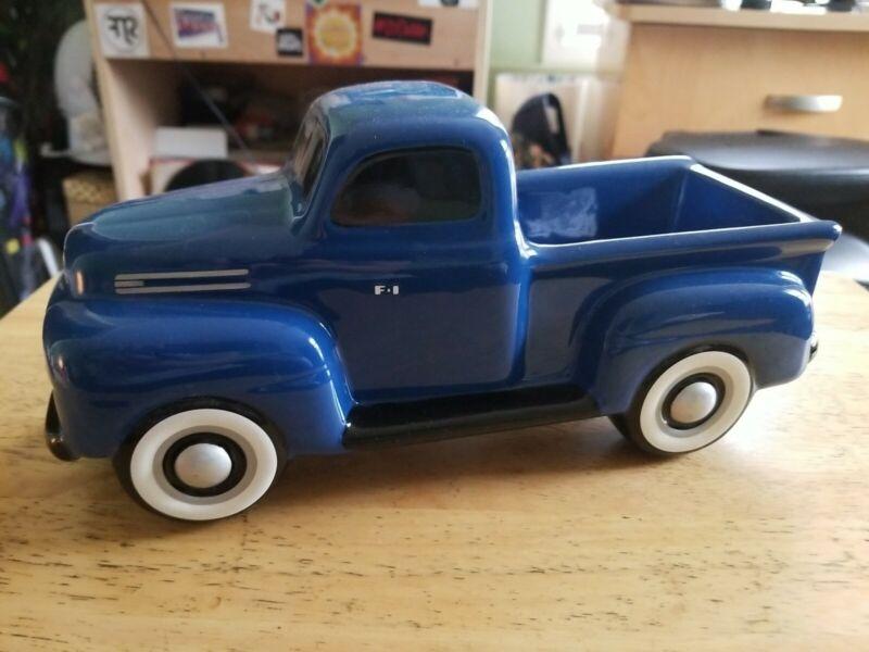 BLUE FORD PICKUP TRUCK CERAMIC TELEFLORA GIFTS