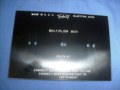 Triplett Multiplier Box Nos Panel . Ohms Volt Meter Panel E5
