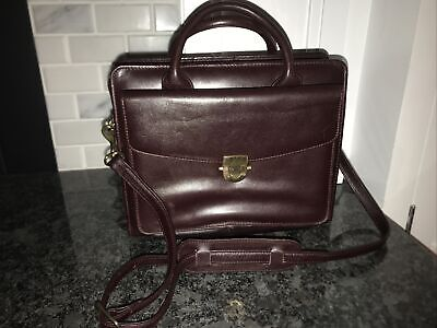 Franklin Covey Briefcase Purse Zip Bag W Handles Leather Planner Classic Binder
