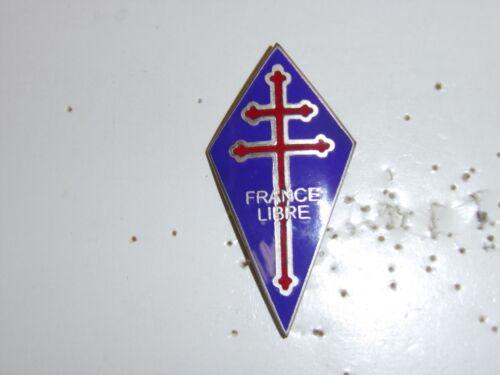 b2393 WW 2 Free French France Libre pocket emblem IR3A120