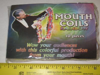 Multicolored 25' Mouth Coils Magic Trick - Paper Streamers For Birthday - Magic Paper