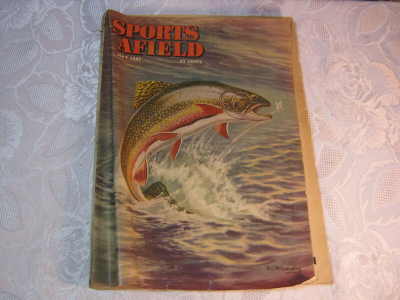 Sports Afield May 1947 Hunting Fishing 1940's vintage magazine
