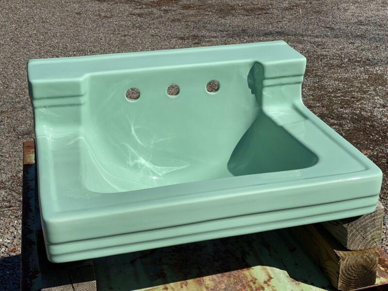 """1950's Jadite Bathroom Sink ~ American Standard ~ No Chips/Cracks, 26.5""""W"""