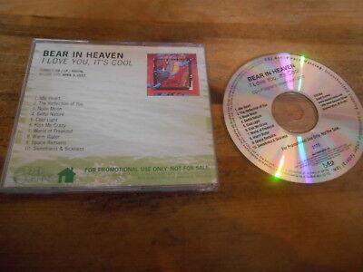 CD Indie Bear In Heaven - I Love You, It's Cool (10 Song) Promo DEAD OCEANS jc (Bear In Heaven)