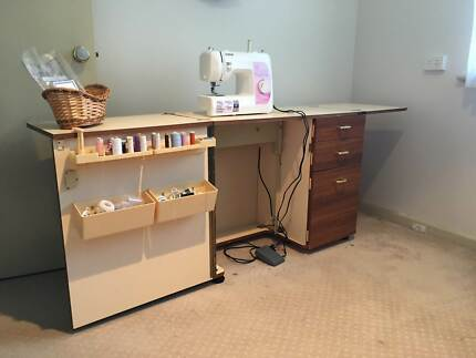 Brother Sewing Machine & Cabinet