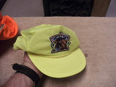 1990s Camel Cigarettes Yellow  Neon  Cap, Lightly Used, See pictures