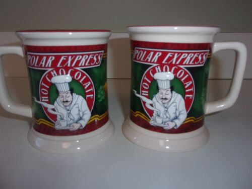 Polar Express Hot Chocolate Mug Cup 3D Set of 2 Mugs Cup Warner Bros