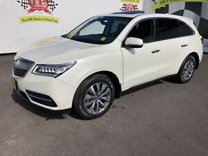 2016 Acura MDX Navigation, 3rd Row Seating, Leather, Sunroof, AW