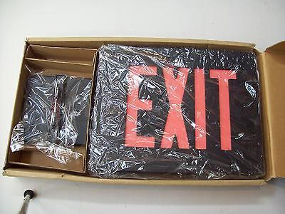 Dual-lite Sempra Exit Sign Model Sesrb 120277v Die Cast Single Face Black