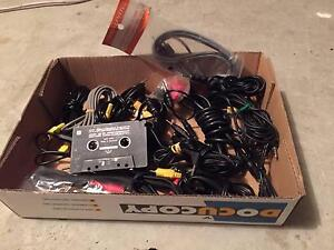 Box of miscellaneous audio cables Holt Belconnen Area Preview