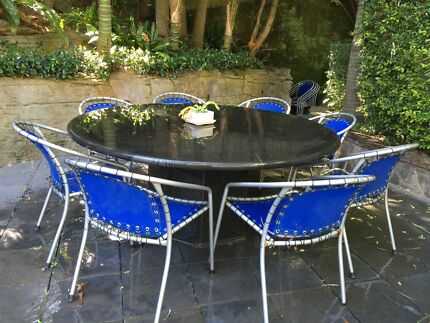 Outdoor Granite Table and chairs Caringbah Sutherland Area Preview