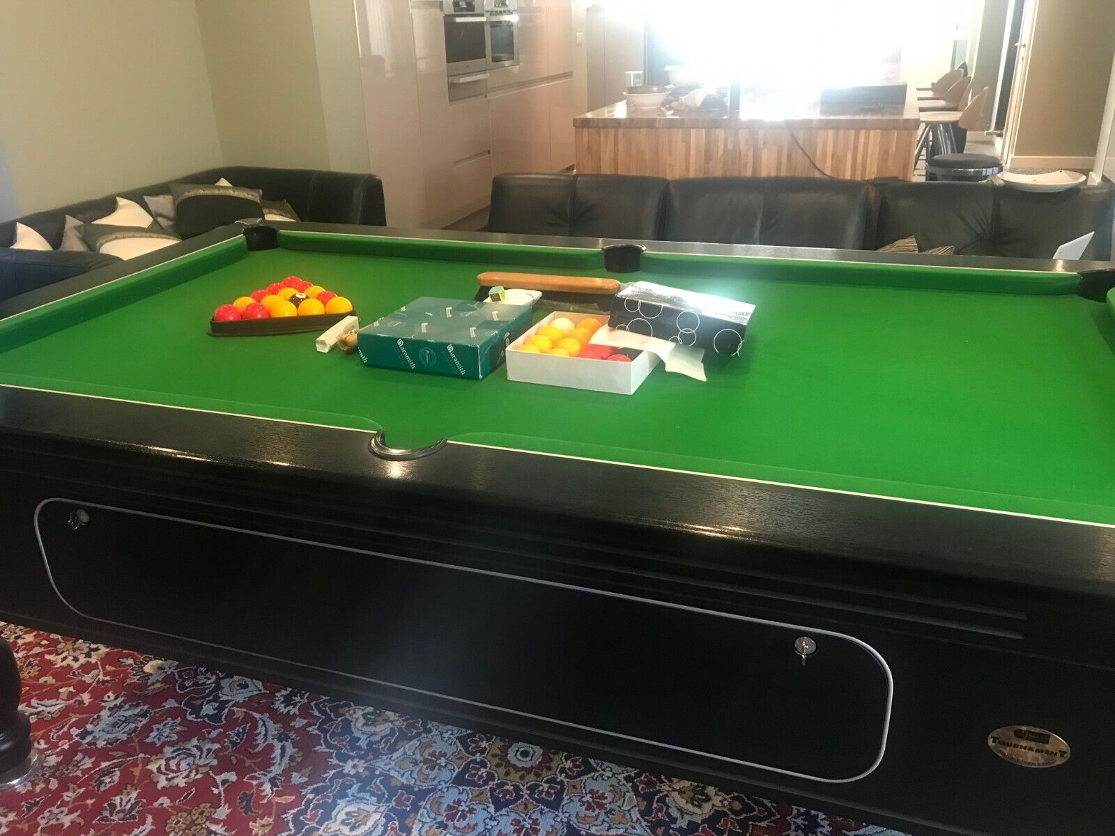 slate bed pool table 7 foot, simply pool tournament, match winning table, black