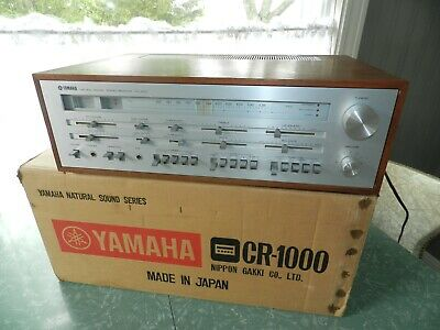 VTG YAMAHA STEREO RECEIVER CR-1000 JAPAN IN ORIG BOX WALNUT RARE WORKS NICE