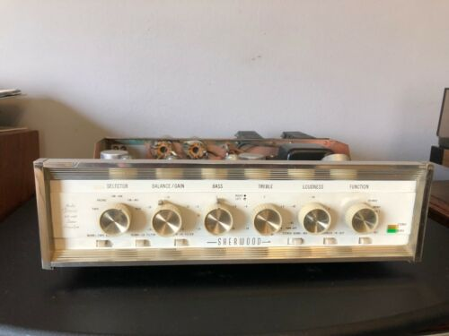 Beautiful Vintage Sherwood S-5500 II Tube Stereo Amplifier Partly Rebuilt WORKS