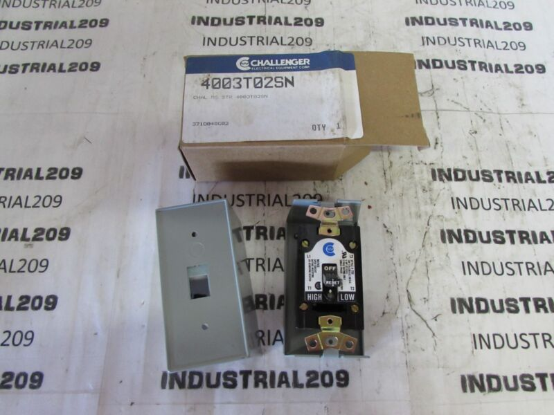 CHALLENGER TYPE MS MANUAL MOTOR CONTROLLER 4003T02SN NEW IN BOX