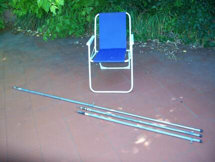 Extendable awning or tent poles