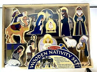 Melissa & Doug Wooden Religious Nativity Set, The First Noel. New Condition!