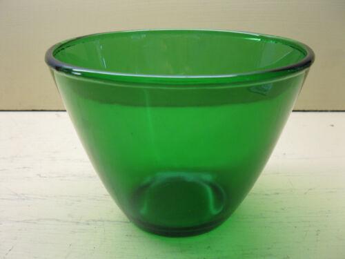 "Vintage Anchor Hocking FOREST GREEN 5"" Splash Proof Mixing Bowl"