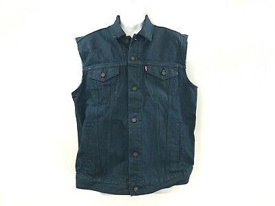 Men's Levi's sleeveless blue jean denim vest jacket size M N