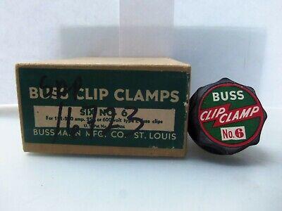 New Lot Buss No. 6 Fuse Clip Clamps 100-200 Amps 250-600 Volts Type E Nib