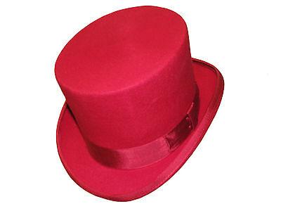 100% Wollfilz rot Hochzeit Event Hohe Qualität Derby - Qualität Top Filzhut