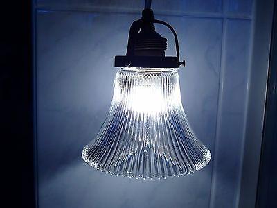 Schöne alte Jugendstil Lampe, Glas Hängelampe